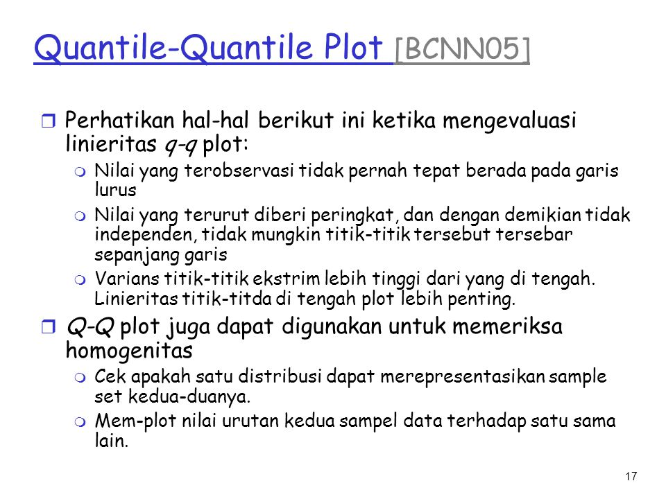 Quantile-Quantile Plot [BCNN05]